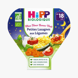 A wholesome main meal for toddlers: vegetable lasagne HiPP