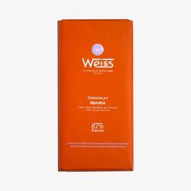 Ibaria chocolate bar Weiss
