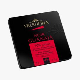 Box of 18 Guanaja squares, dark chocolate (70 % minimum cocoa, pure cocoa butter) Valrhona