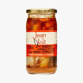 Sardines with olive oil and Espelette chili Jean De Luz