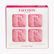 16 biscuits with raspberry pearls Fauchon
