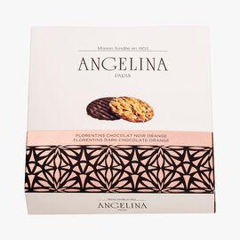 Dark chocolate and orange florentines Angelina