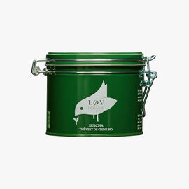 Sencha Chinese organic green tea, metal tin Lov Organic