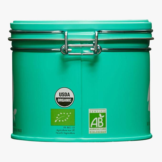 Almond rooibos, metal tin Lov Organic
