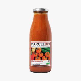 Organic Andalusian gazpacho soup Marcel Bio