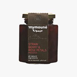 Strawberry and rose petal extra jam  Mymouné