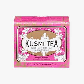 Decaffeinated Earl Grey tea with citrus, box of 20 teabags  Kusmi Tea
