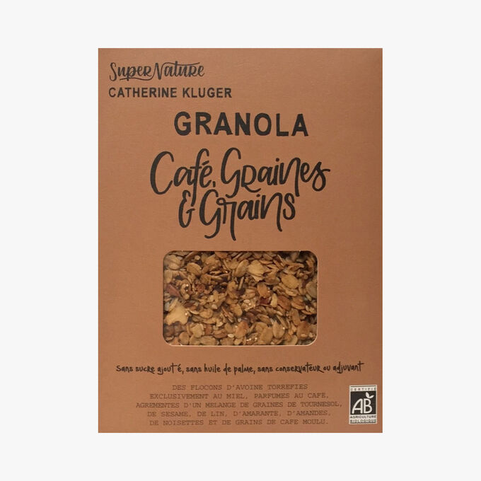 Granola au café, graines et grains SuperNature Catherine Kluger