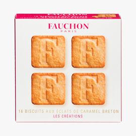 16 biscuits aux éclats de caramel breton Fauchon
