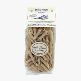 Plain penne rigate pasta Pâtes Fabre
