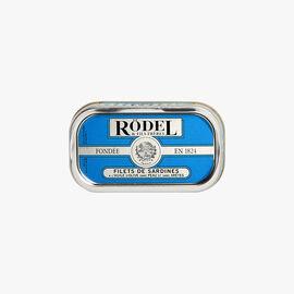 Skinless and boneless sardine fillets in olive oil Rödel