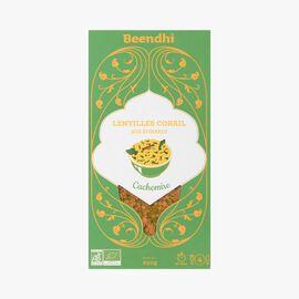 Red lentil dal with spinach, Kashmir Beendhi