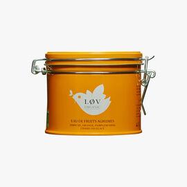 Citrus Fruit Water, metal tin Lov Organic