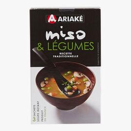 Miso & vegetable instant soup Ariaké