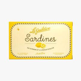 Sardines in olive oil with lemon La Guildive