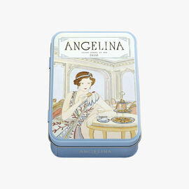 Crispy crepes coated with dark chocolate, 70 g tin Angelina