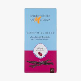 Dark chocolate twigs with raspberry flavouring Mademoiselle de Margaux