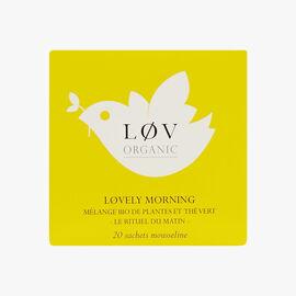 Lovely Morning, tin of 20 sachets Lov Organic