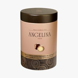 Crispy marbles coated with milk chocolate Angelina