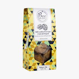Auvergne blue cheese and Périgord walnut toasts Bee Prairie