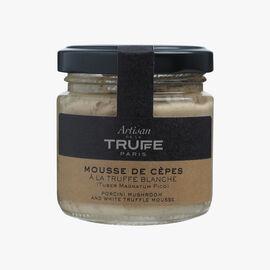 Porcini mushroom mousse with white truffle (Tuber magnatum pico) Artisan de la truffe
