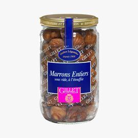 Whole braised chestnuts, vacuum-packed Gillet Contres
