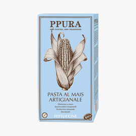 Organic fettuccine pasta with corn Ppura