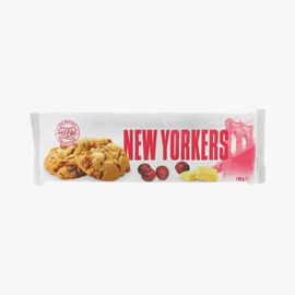 White chocolate and cranberry cookies New Yorkers