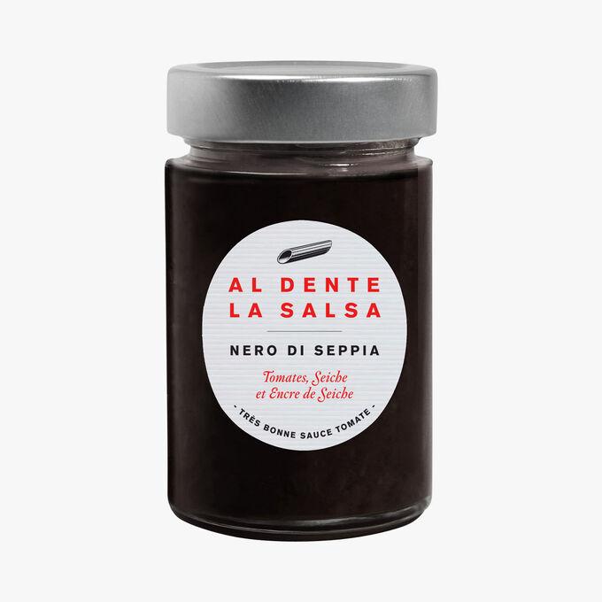 Nero Di Seppia, tomatoes, cuttlefish and cuttlefish ink Al dente la salsa
