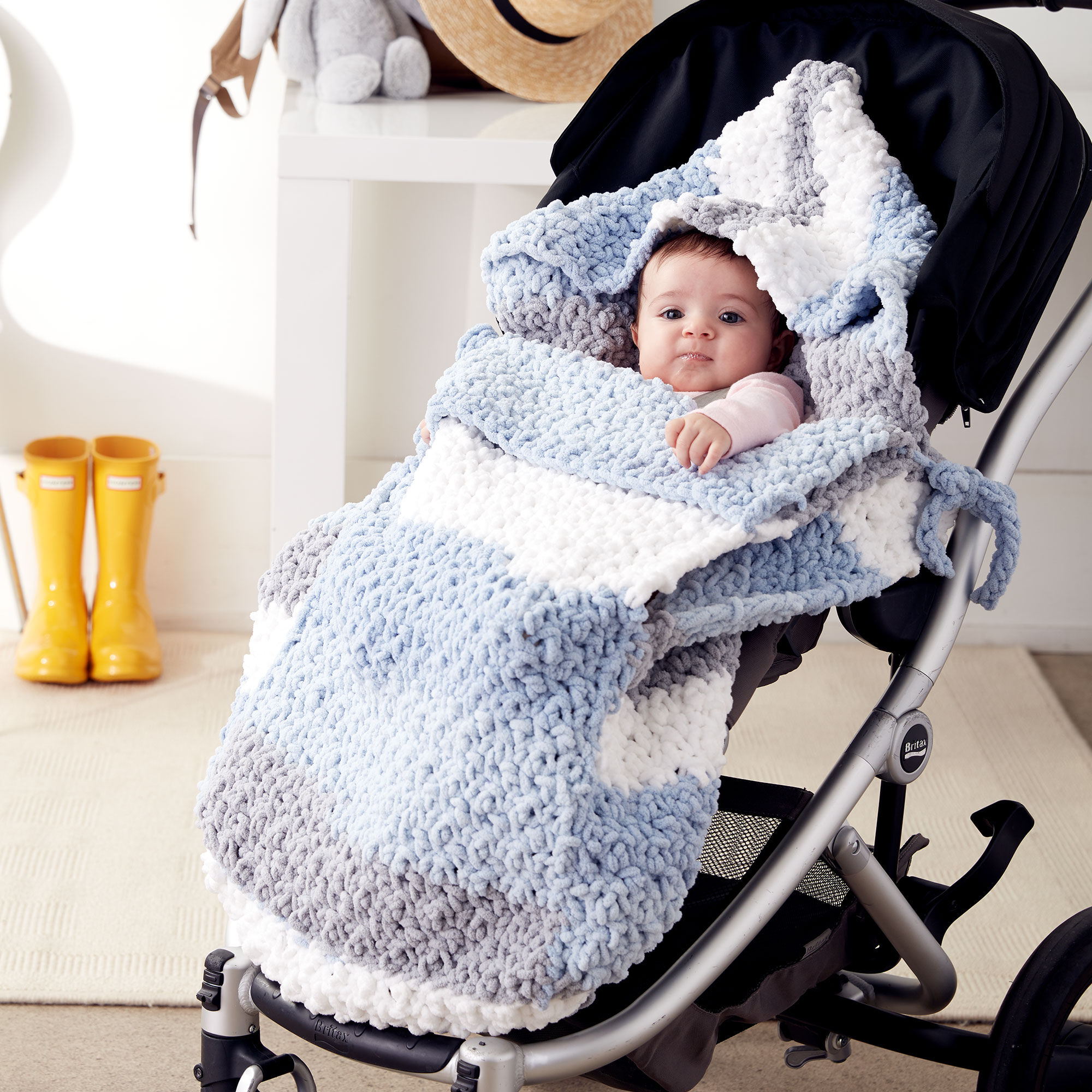 Easy Crochet Stroller Blanket
