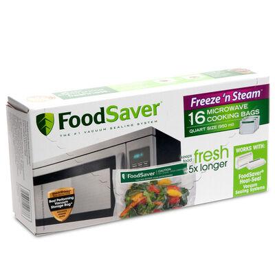 Foodsaver Freeze N Steam Microwave Quart Vacuum Seal Cooking Bags 16
