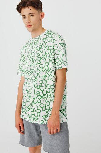 T-shirt imprimé dessin fleurs