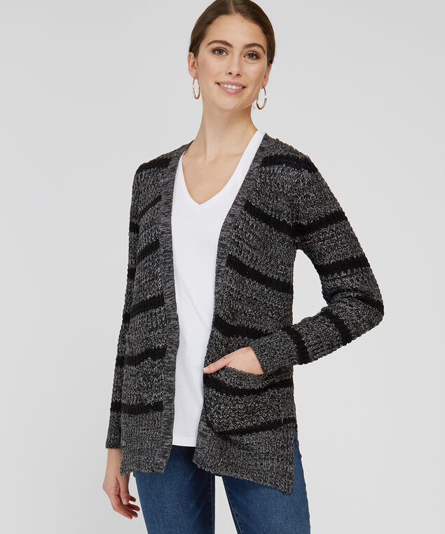 ad5e4b6636 ... striped cardigan with lace up back - wb