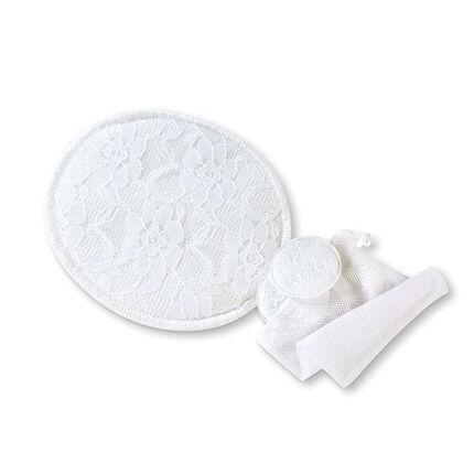 Lot de 6 coussinets d'allaitement lavables blanc