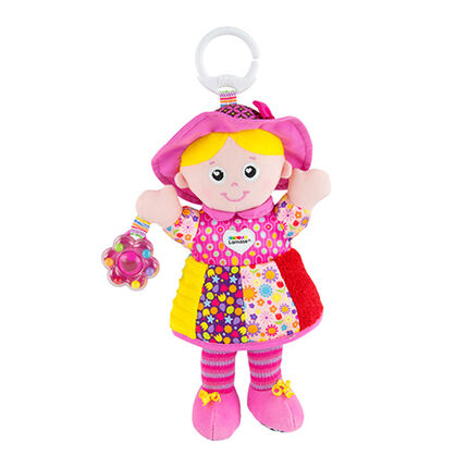 Hochet 1er âge Clip&Go - Emilie mon amie rose