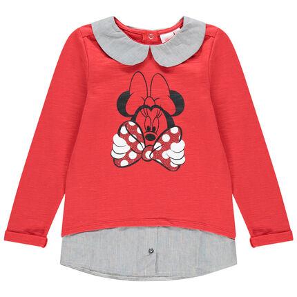 Sweat effet 2 en 1 print Minnie Disney pour enfant fille 3 ans rouge moyen
