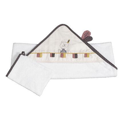Set de bain en coton - Timouki blanc