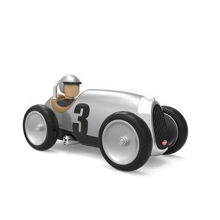 Jouet petite voiture racing car - Grise gris argenté