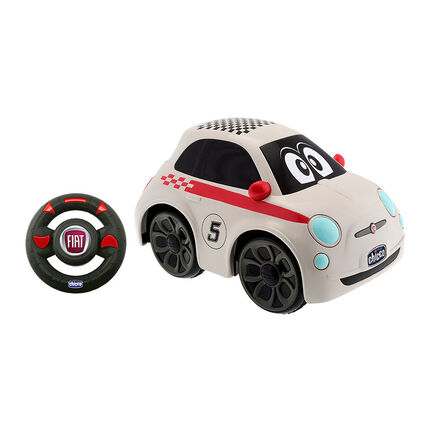 Voiture Radiocommandée - Fiat 500 1er Age blanc