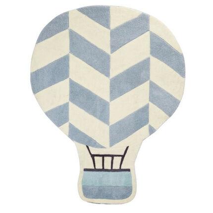 Tapis de chambre New Lazare - 130 x 100 cm blanc/bleu