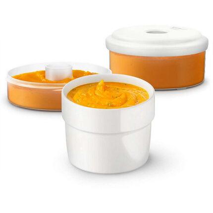 Pots de conservation pour aliments frais - 2 pièces blanc