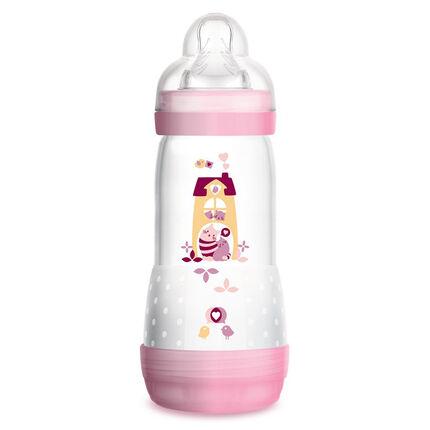 Biberon Easy start anti-colique tétine débit 3 0-6 mois 320 ml – Rose