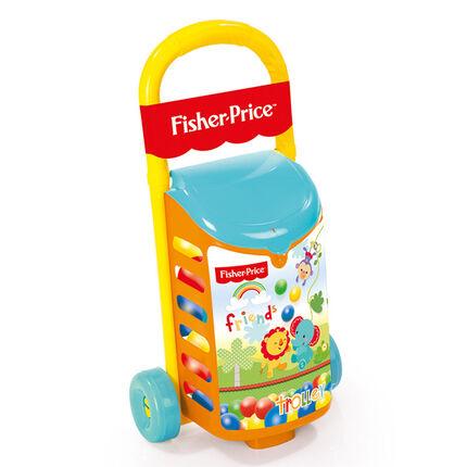 Trolley à boules 1er âge jaune