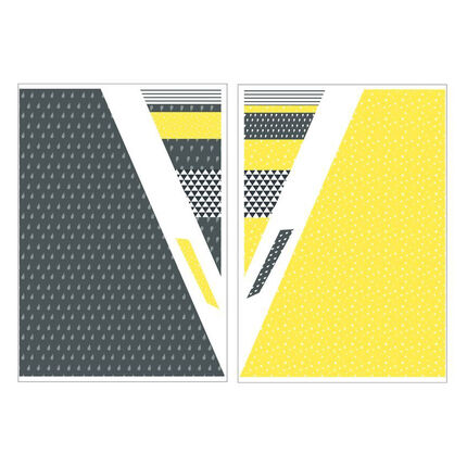 Stickers muraux Tipi - Babyfan jaune/gris