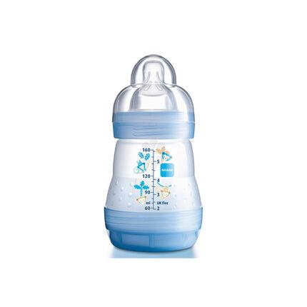 Biberon Anti-colique tétine débit 1 0-6 mois 160 ml – Bleu 3/4 ans