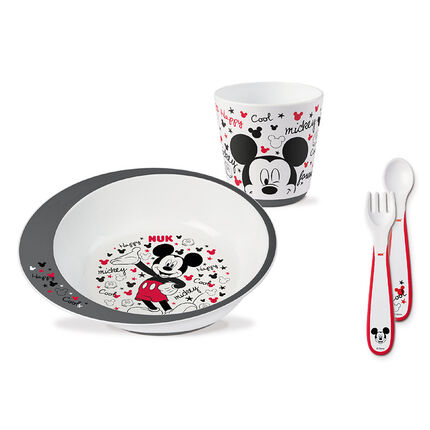 Coffret vaisselle Mickey rouge