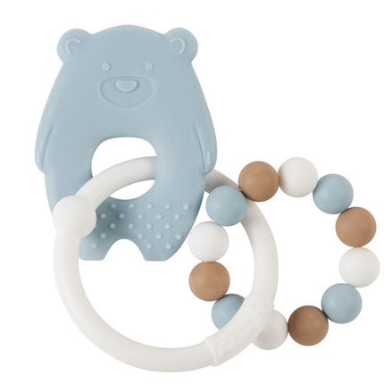 Anneau de dentition en silicone - Ours Bleu
