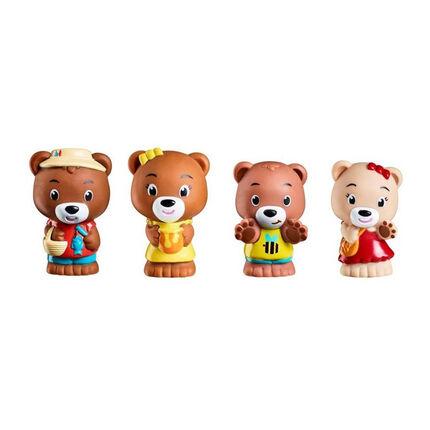 Lot de 4 personnages ours marron