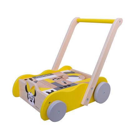 Poussepousse en bois Minnie jaune