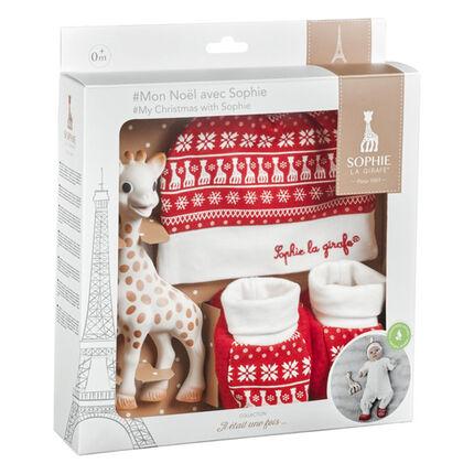 Coffret Mon Noël avec Sophie la Girafe blanc